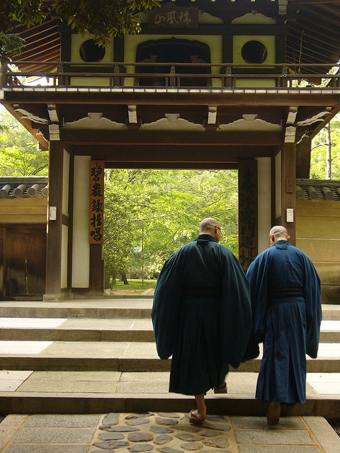 two traveling monks